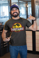 Mens Fathers Day Gift T-Shirt DADDYSAURUS Funny Dad Top Birthday Daddy Dinosaur