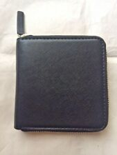 BARNEYS NEW YORK BLACK SAFFIANO SQUARE ZIP AROUND WALLET NWT