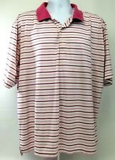 Fairway Greene Golf Polo Mens Xl-Tg Richland Crest Spell Out White w/Pink/Purple