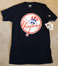 NEW YORK YANKEES MLB New Era Bat / Hat Logo T-Shirt - Navy Sz S NEW