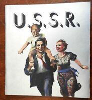 Soviet Union Tour Guide USSR 1937 Stalinist Russia illustrated tourism booklet