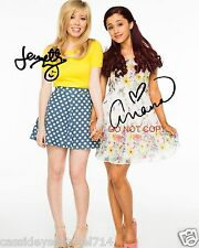 "Ariana Grande & Jennette McCurdy as Sam & Cat 8x10"" reprint Signed Photo #1 RP"