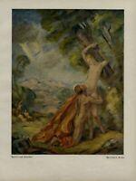 Apollo und Daphne Kunstdruck 1923 v. Willibald Besta männlicher & weiblicher Akt