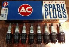 NOS AC Spark Plugs Box of 8 84T FireRing 1957 Ford Passenger Thunderbird Y Block