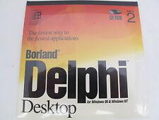 Borland Delphi Desktop Version 2 Windows 95 Windows NT 32-bit Free Shipping New