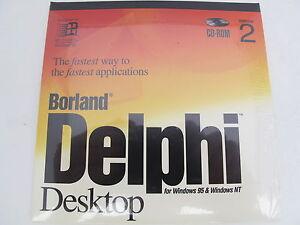 Borland Delphi Desktop Version 2 Windows 95 / NT 32-bit HDC1320WW10180 BOR8822