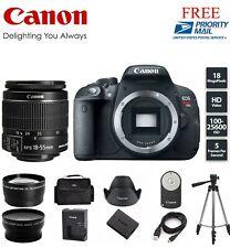 Canon EOS Rebel T5i 18.0 MP Digital SLR with EFS 18-55mm (3) LENSES + Tripod