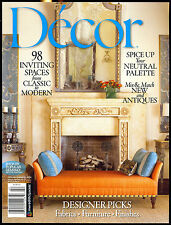 Decor Magazine Spring/Summer 2014-Interior Design-Fabrics-Furniture-Finishes