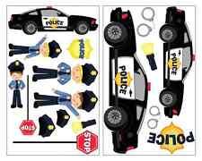 17 Teile Polizei Wandtattoo Set Cooles Polizeiauto Wandsticker Aufkleber Sticker