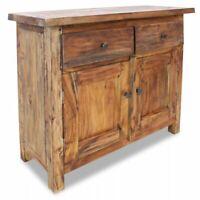 USA Sideboard 2 Doors 2 Drawers Solid Reclaimed Wood End Cabinet Cupboard