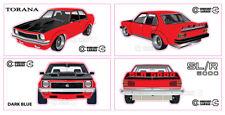Holden LX Torana A9X SLR 5000 Sedan - Large Sticker Set - Please advise colour