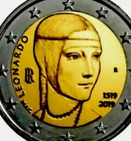 Italy 🇮🇹 Coin 2€ Euro 2019 Commemorative Leonardo Da Vinci 500y UNC From Roll