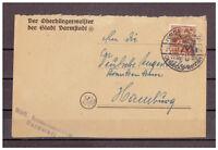 Alliierte Besetzung MiNr. 44 I EF SSt Darmstadt - Dreiecks-Rennen 28.08.1948
