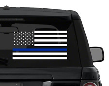 Thin blue line AMERICAN FLAG Police Dept decal sticker ANY COLOR outdoor vinyl