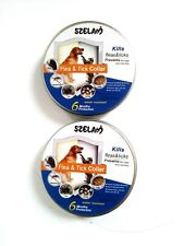 Flea & Tick collar Cats Dogs 6 Months Protection Cut to fit 2 Pack