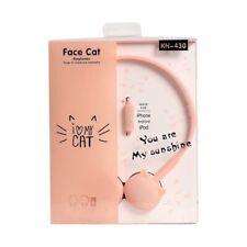 Las agujas del reloj _ Lindos Dibujos animados Cat 3.5mm Con cable Auriculares Música Estéreo Auriculares Sobre Cabeza Micrófono SW