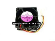 Bi-Sonic BP402012HH-03A Double ball cooling fan DC12V 0.20A 2.4W 40*40*20mm 3pin