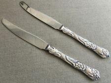 "2 Individual Fruit Knives Nils Johan NIJ4 Rosten Stahl Sweden Silver Plate 7"""