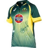 Official Mens Asics Australian Cricket Team Replica ODI Home Shirt