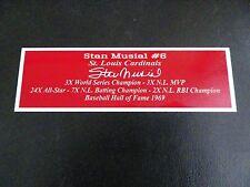 Stan Musial Nameplate St. Louis Cardinals Autograph Photo Bat Hat Jersey