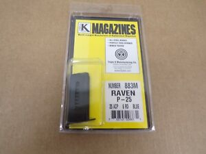 Raven P-25 Magazine 25 ACP by Triple K - Model 883M