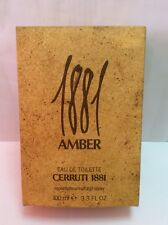 1881 AMBER CERRUTI EAU TOILETTE  100 ML SPRAY DISCONTINUED Vintage Raro