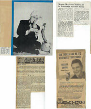 Russel Swann-Nightclub Magician-Studied under Thurston-4 articles-ca. 1940s-Sw