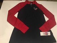 B70 NFL Team Apparel Womens Houston Texans TX3 Cool 1/4 Zip Pullover shirt M
