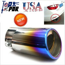 Stainless Steel Bluing Exhausted Pipe Tail Muffler Tip Universal Auto Accerrioes