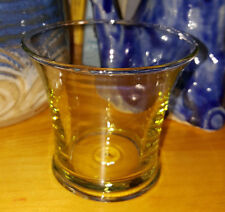vintage or antique vaseline glass toothpick holder vase vessel depression era