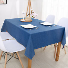 Solid Color Tablecloth Table Cover Decoration Heat Proof Anti-Fouling Washable