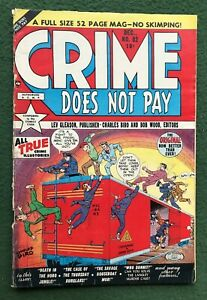 Crime Does Not Pay #82 Lev Gleason Pub Golden Age All True Illustories 1949 vg/f