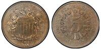 1866 Shield Nickel ANACS AU55