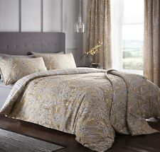 Dreams & Drapes Maduri Reversible Easy Care Duvet Cover Bedroom Range Ochre