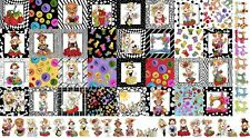 """Loralie Medley Sew Curious Ladies Lady Sewing Theme Cotton Fabric 24""""X44"""" Panel"""
