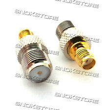 ADATTATORE ADAPTER CONNETTORE SMA-F JACK SMA FEMALE to F TYPE FEMALE ADAPTOR RF