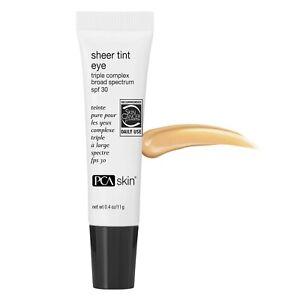 PCA Skin Sheer Tint Eye Triple Complex Broad Spectrum SPF30 0.4 oz  Expire 10/21