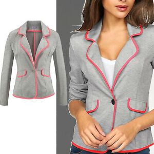 schöner Blazer Gr.34/36 XS/S Sweatblazer Jerseyblazer JACKE grau pink Stretch