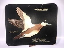 Vintage Advertising Calendar Sign Johnson Seahorse Motors Canada Ruddy Duck