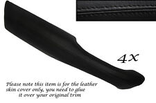 BLACK STITCH 4X DOOR HANDLE ARMREST LEATHER COVERS FITS RANGE ROVER P38 94-02