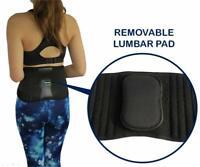 Relief Waist Back Pain, Unisex Black Back Support Brace, Christmas Birthday Gift