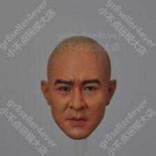 custom 1/6 Head Sculpt Jet Li The Warlords Fearless Asia Kung fu star not braids
