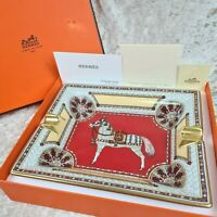 RARE HERMES PARIS CIGAR ASHTRAY Porcelain Horse Art Design Made in France (NEW)