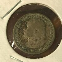 1894 NETHERLANDS SILVER 10 CENTS NICE COIN