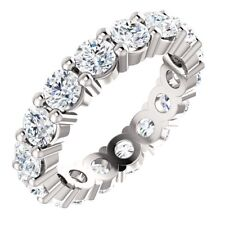 3.00 Carat DEF VS1- VS2 Natural Diamond Eternity Ring in Plainum