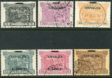 Portugal Sc# 193 to 198 Used Complete Set  S1401
