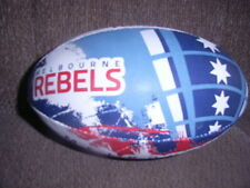 MELBOURNE REBELS GILBERT RUGBY UNION MIDI size 2-3 BALL B/NEW