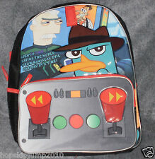 DISNEY STORE PHINEAS & FERB AGENT P BACKPACK BOOK BAG ~ NWT