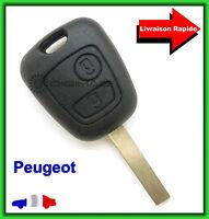 Coque Télécommande Plip Bouton Clé Pour Peugeot 107 207 307 + Lame vierge