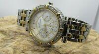 Anne Klein Women's 10/9859 Diamond Accented Two-tone Steel Bracelet Quartz Watch
